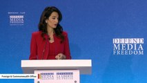 Amal Clooney: Trump 'Vilifies The Media'