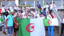 Algeria and Ivory Coast fans arrive for heavyweight AFCON QF clash