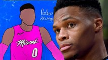 Russell Westbrook CAUGHT Liking Pic Of Himself In Heat Jersey, Quickly Deletes!