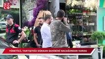 Beşiktaş'ta apartman yöneticisi tartıştığı dükkan sahibini bacağından vurdu