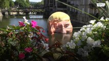 Half-submerged Trump installation mocks withdrawal from Paris climate accord