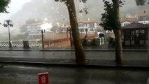 Amasya'da kuvvetli rüzgar etkili oldu