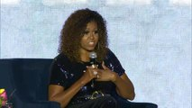 """Michelle Obama: """"Going high"""" is a long-term strategy"""