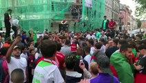 Mulhouse : les supporters fêtent la qualification de l'Algérie pour les 1/2 finales de la CAN