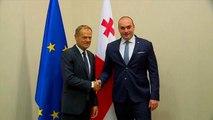 Donald Tusk apporte le soutien de l'UE en Géorgie