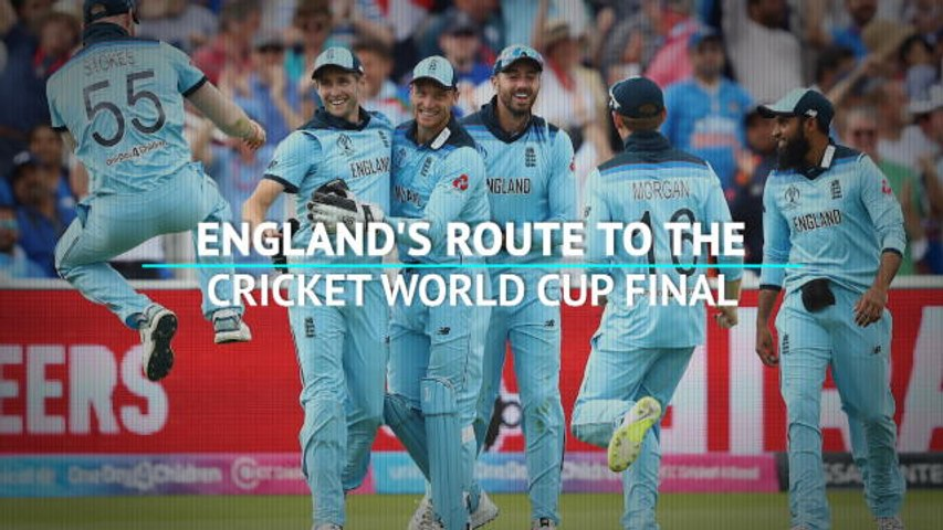 England's route to the Cricket World Cup final