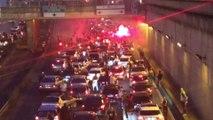 Paris: le périphérique bloqué par des supporters algériens