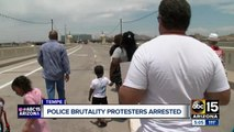 Three arrested while protesting police brutality on Tempe bridge