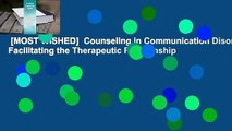 [MOST WISHED]  Counseling in Communication Disorders: Facilitating the Therapeutic Relationship