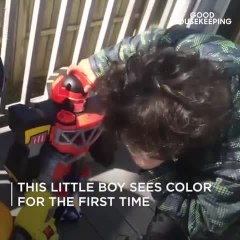 This Little Boy Is Seeing in Color for the First Time