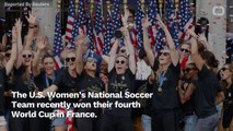 Fans Demand US Women's Soccer Receive Equal Pay During Victory Parade