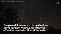NASA Confirms A Car-Sized Fireball Lit Up Australia