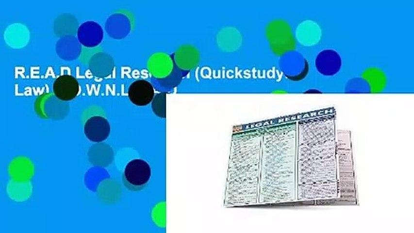 R.E.A.D Legal Research (Quickstudy: Law) D.O.W.N.L.O.A.D