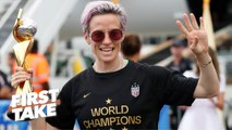 Pay equality at the forefront of the USWNT parade _ First Take