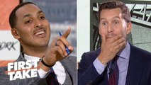 Will Cain can't handle Ryan Hollins calling KD and Kyrie to the Nets 'overrated' _ First Take