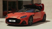 Aston Martin DBS Superleggera Volante Design in Cosmos Orange