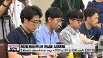 S. Korea increases minimum wage for 2020 by 2.9% to KRW 8,590