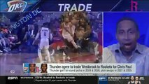 Stephen A. Smith SHOCKED by Thunder agree to trade Westbrook to Rockets for Chris Paul