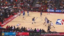 Zion Williamson NBA Debut With LeBron James Watching! Pelicans vs Knicks 2019 NBA Summer League