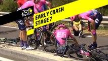 Early Crash  - Étape 7 / Stage 7 - Tour de France 2019