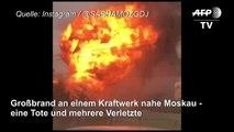 Großfeuer in Kraftwerk nahe Moskau - eine Tote