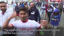 England fans celebrate reaching Cricket World Cup final