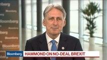 U.K.'s Hammond: Parliament Is 'Dead Set' Against No-Deal Brexit