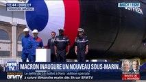 Emmanuel Macron inaugure le Suffren, un nouveau-marin français de 99 mètres