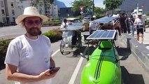 Après Genève et Annemasse, direction Chamonix pour les vélos solaires venus tout droit d'une autre planète