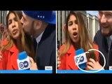 Pendant la Coupe du Monde 2018, une journaliste colombienne embrassé de force en plein direct