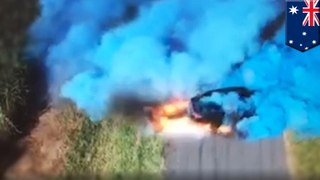 Man Tire Spins Himself into a Fiery Mess and a Driving Ban