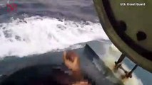 President Trump Praises Amazing Video of Coast Guard Service Members Jumping onto a Moving Submarine Smuggling 17,000 Pounds of Cocaine