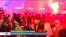 Les images des incidents sur les Champs Elysées cette nuit après la victoire de l'Algérie