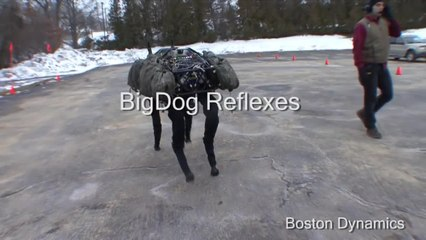 The First Boston Dynamics Video: Big Dog Reflexes