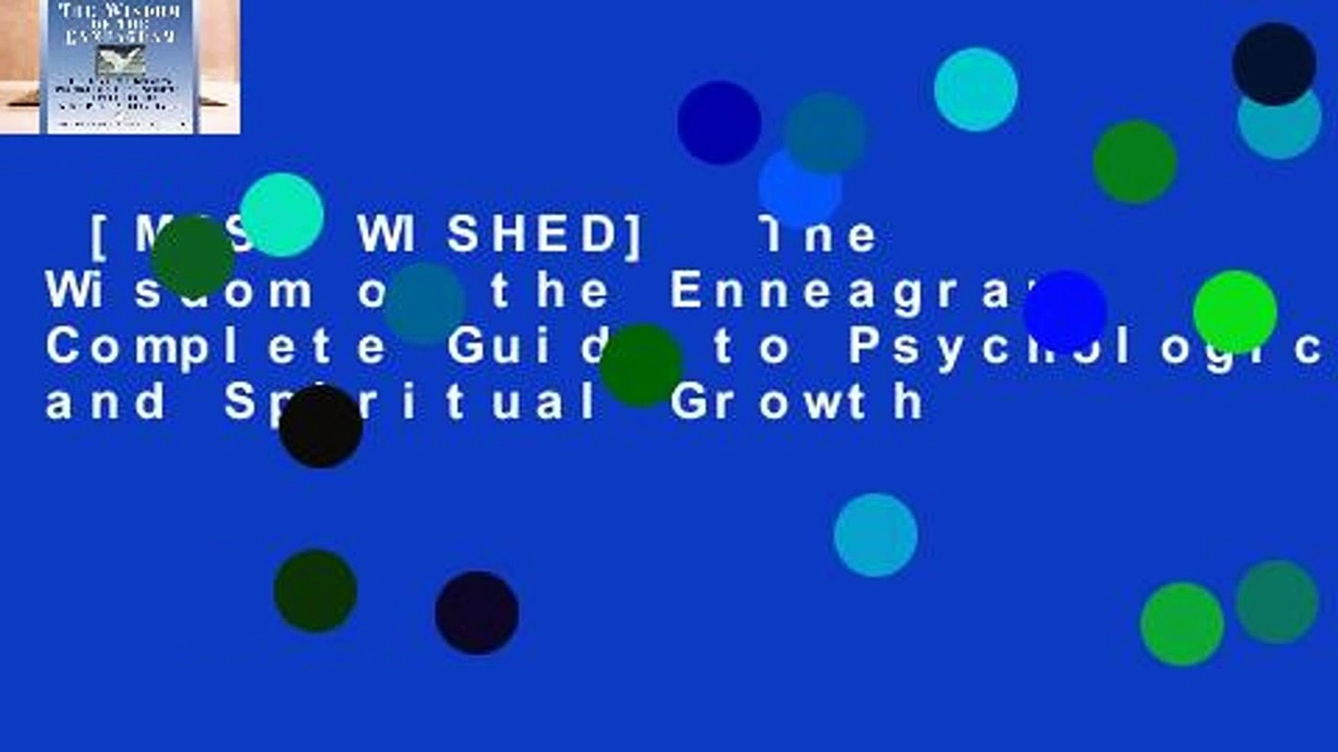 [MOST WISHED]  The Wisdom of the Enneagram: Complete Guide to Psychological and Spiritual Growth