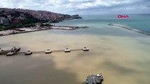 Zonguldak'ta deniz çamur rengini aldı