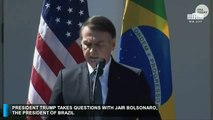 President Trump takes questions with Brazil's...