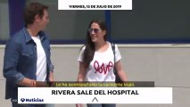 Albert Rivera abandona el hospital acompañado de Malú. Vídeo: Antena 3