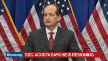 Labor Secretary Acosta Says He Is Resigning Amid Epstein Scrutiny