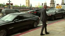 Boris Johnson arrives in Westminster for TV interview