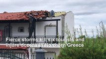 Six tourists killed in fierce storms in Greece