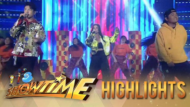 Anne Curtis, Darren Espanto and Gloc 9 heats up on stage with their performance | It's Showtime
