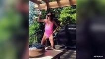 Kaitlyn Bristowe Twerks In Pink Bathing Suit