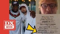 """Eminem & 50 Cent Reunite On Ed Sheeran's """"Remember The Name"""" Single"""