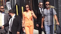 Alex Morgan arrives at  Jimmy Kimmel Live set