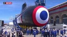 Emmanuel Macron inaugure le sous-marin Suffren