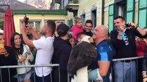 L'aquila Olympia tra i tifosi ad Auronzo