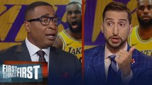 Frank Vogel dismisses rumors LeBron will play PG - Cris & Nick react _ NBA _ FIRST THINGS FIRST