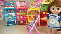 Baby doll and drink vending machine play