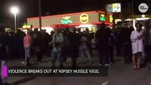 Violence breaks out at Nipsey Hussle memorial...